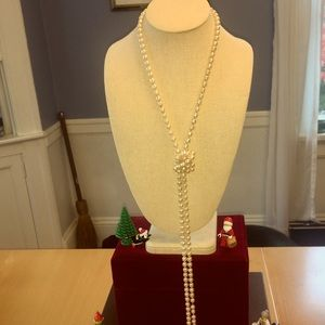 Stunning Fresh water Pearl lariat necklace